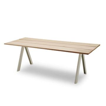 Overlap Tisch von Skagerak in SIlberweiß