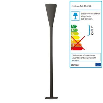 FontanaArte - Riluminator LED Stehleuchte in dunkelgrau