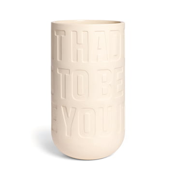 Kähler Design - Love Song Vase H 300 in Kalkweiß