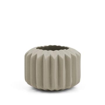 Riffle 1 Keramikteelichthalter / -vase von Novoform in grau