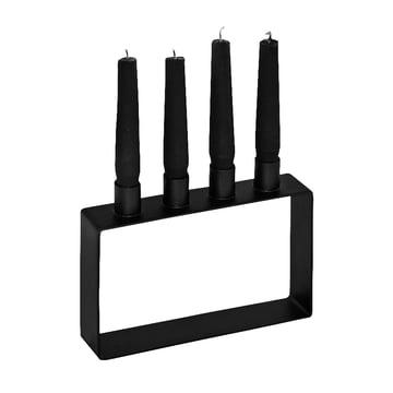 Frame 4 Kerzenhalter von Novoform in schwarz