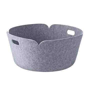 Muuto - Restore Runder Aufbewahrungskorb, grau