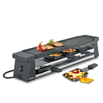 Raclette 4 Compact, schwarz mit Alugrillplatte von Spring