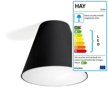 Hay - Sinker Light Deckenleuchte, schwarz