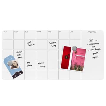 Glastafel mit Wochen- & Monatskalender