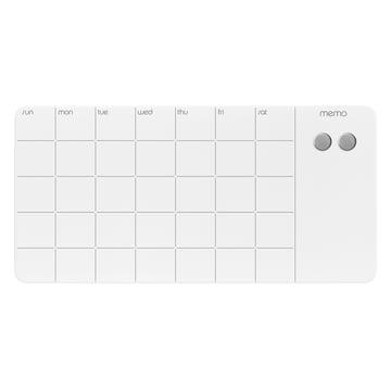 Magnetische Glastafel mit Monatsplaner von ThreeByThree