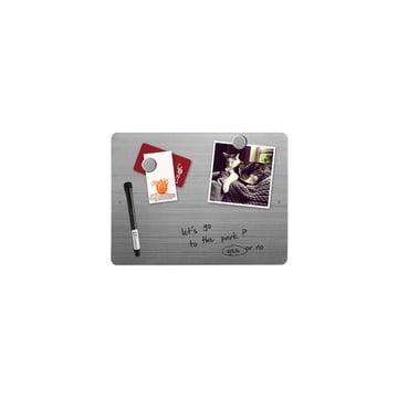 Kleine Magnetwand aus Edelstahl zum Beschriften