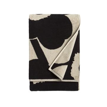 Unikko Badetuch 75 x 150 cm von Marimekko in Schwarz