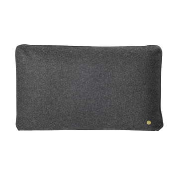Wool Cushion 60 x 40 cm von ferm Living in Dunkelgrau