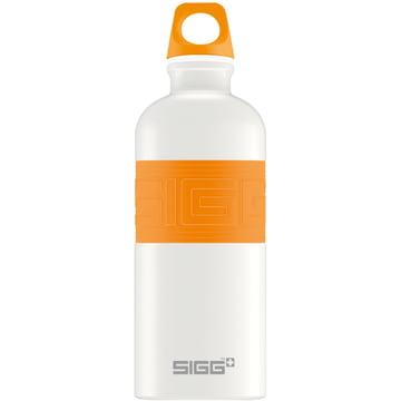 CYD Pure White Trinkflasche von Sigg in Orange
