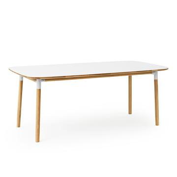 Form Table 95 x 200 cm von Normann Copenhagen aus Eiche in Weiß