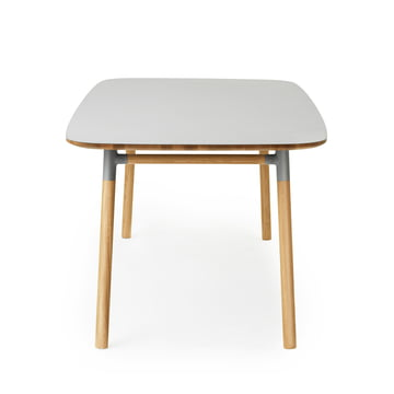 Form Table 95 x 200 cm von Normann Copenhagen aus Eiche in Grau