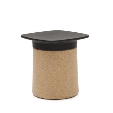 Kristalia - Degree Beistelltisch in Schwarz mit Korkmantel