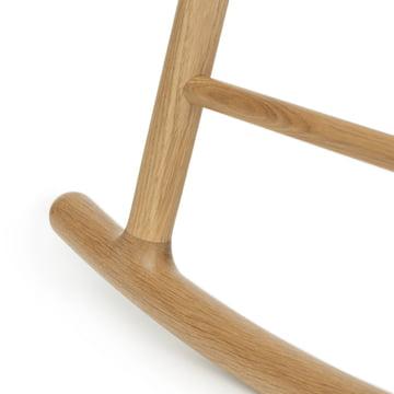 Schaukelstuhl mit Untergestell aus Eichenholz
