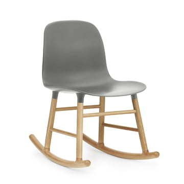Form Rocking Chair von Normann Copenhagen aus Eiche in Grau