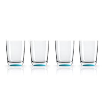 Longdrink-Glas 425 ml (4er-Set) von Palm Products in Blau
