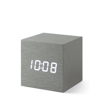 Alume Cube Clock mit LED Display aus der MoMA Collection