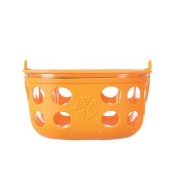Glas Food-Container 0.9 Liter von Lifefactory in Orange