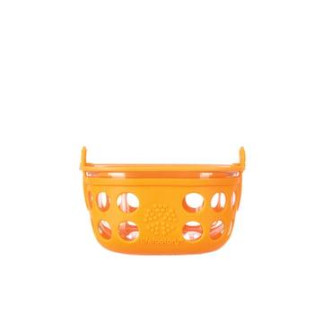 Glas Food-Container 0.2 Liter von Lifefactory in Orange