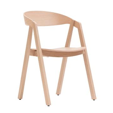 Maigrau - NARDO Stuhl, Eiche natur, klar lackiert