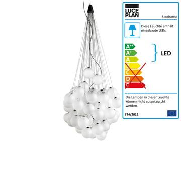 Stochastic Pendelleuchte Ø 40 cm von Luceplan in semi-transparent Weiß