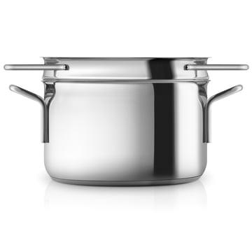 Stainless Steel Kochtopf mit Pasta-Sieb von Eva Trio
