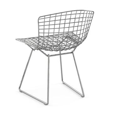 Stahldraht-Stuhl von Knoll von hinten