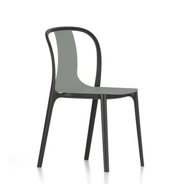 Belleville Chair Plastic von Vitra in Mossgrau