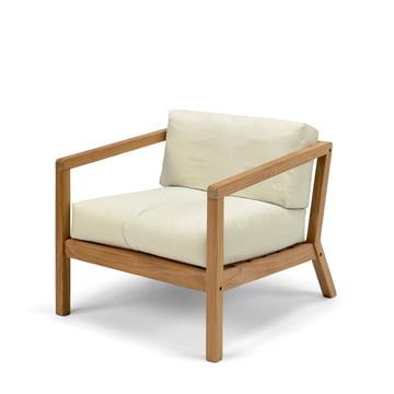 Virkelyst Sessel von Skagerak aus Teakholz in Eggshell
