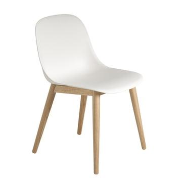 Muuto - Fiber Side Chair Wood, Eiche / weiss