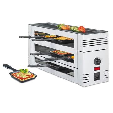 Spring - Pizza Raclette 6 mit Alu-Grillplatte, weiß