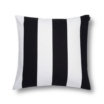 Marimekko - Juhlaraita Kissenbezug 50 x 50 cm, schwarz / weiß