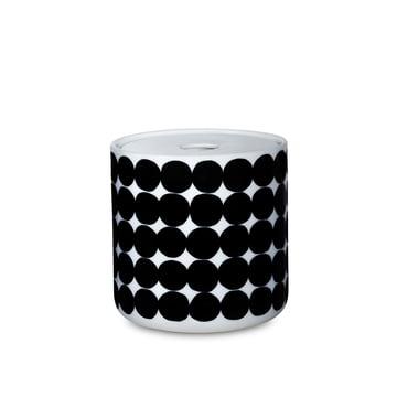 Das Oiva Siirtolapuutarha Vorratsglas in einer Größe von  700 ml in weiß / schwarz