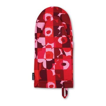 Der Mini-Ruutu-Unikko Ofenhandschuh in rot