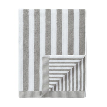 Marimekko - Kaksi Raitaa Badetuch, grau / weiß 75 x 150 cm
