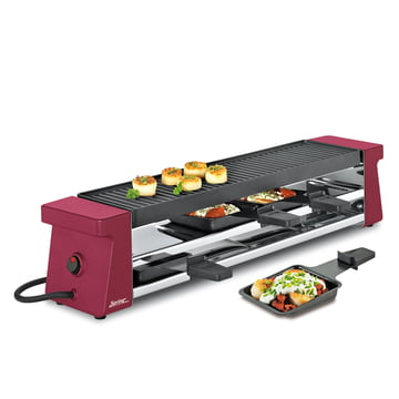 Spring - Raclette 4 Compact, rot mit Alugrillplatte EU