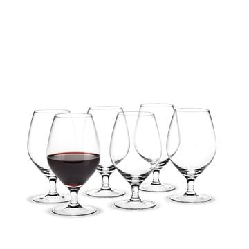 Royal Rotweinglas, 39 cl (6er-Set) von Holmegaard