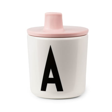 AJ Schnabelbecher mit Becherdeckel von Design Letters in Pink