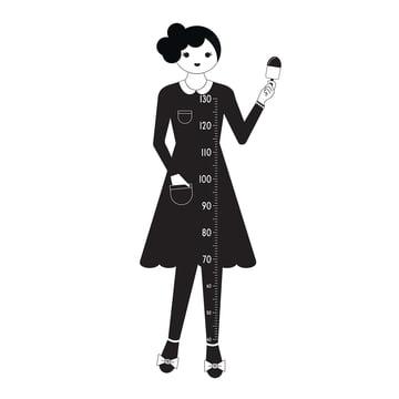 Design Letters - AJ Measurewoman Wandsticker / Messlatte