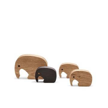 Holzfiguren von Georg Jensen im Set