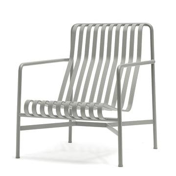 Der Palissade Lounge Chair High von Hay in hellgrau