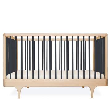 Babybett Caravan Crib von Kalon aus Ahorn in Schwarz
