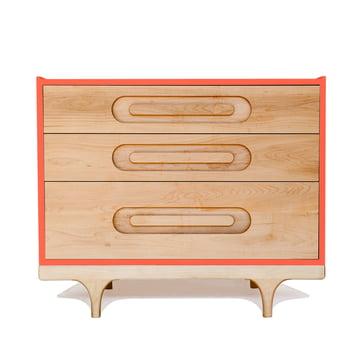 Kommode Caravan Dresser von Kalon in Rot/Koralle