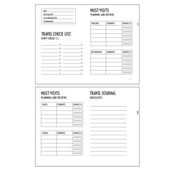Travel Journal von Design Letters