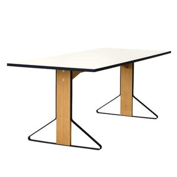 REB 001 Kaari Tisch 200 x 85 cm von Artek in Hochglanz Weiß aus Eiche natur