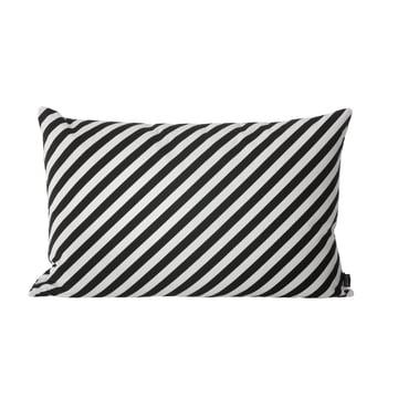 Striped Kissen von ferm Living in Schwarz und Weiß