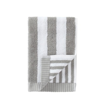 Marimekko - Kaksi Raitaa Gästehandtuch, grau / weiß, 30 x 50 cm