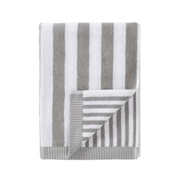 Marimekko - Kaksi Raitaa Handtuch, grau / weiß 50 x 100 cm