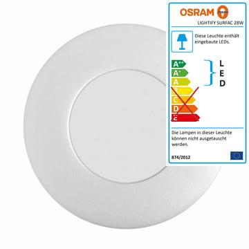 Lightify Surface Light Decken- und Wandleuchte 28 W von Osram