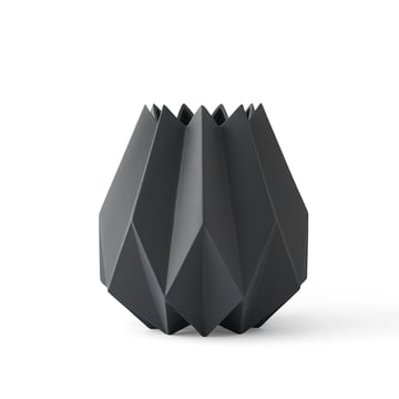 Die Folded Vase tall von Menu in carbon
